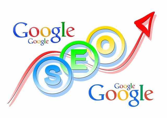 creative google seo marketing illustration