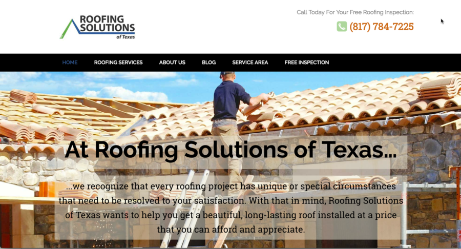 Contractor website design best practices are used on this project