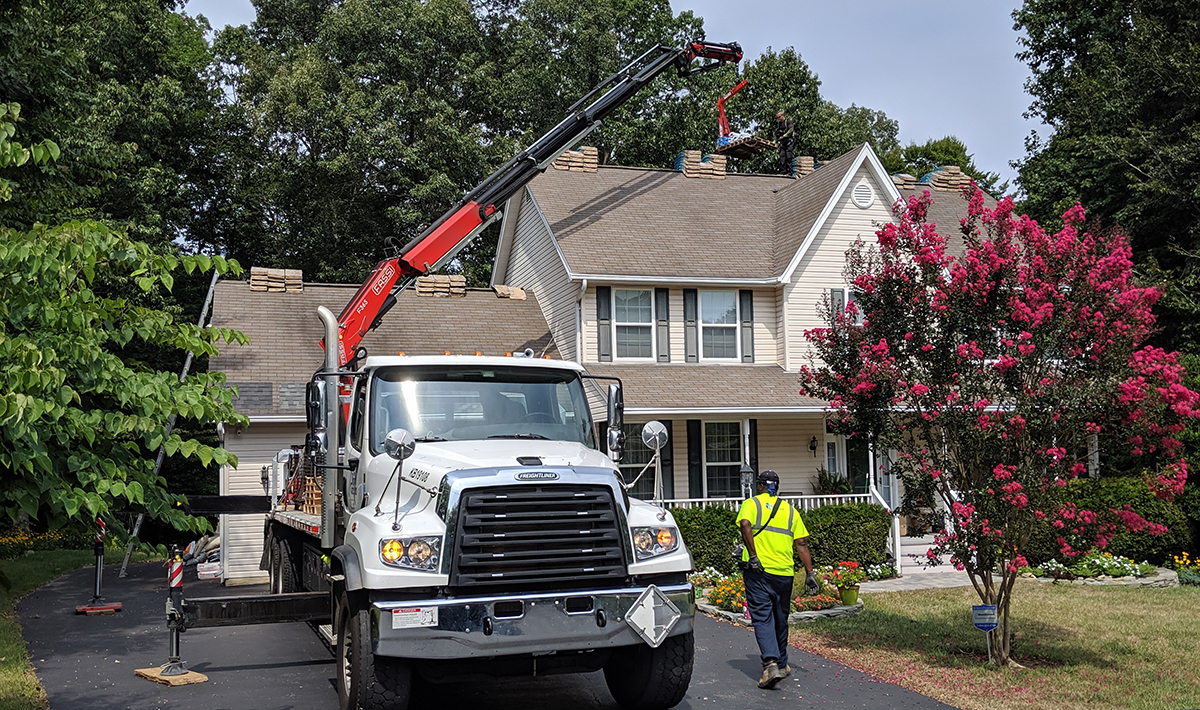 loading in shingles to your new customer is a real result from your roofing contractor marketing